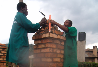 Students of Civil Engineering doing Construction